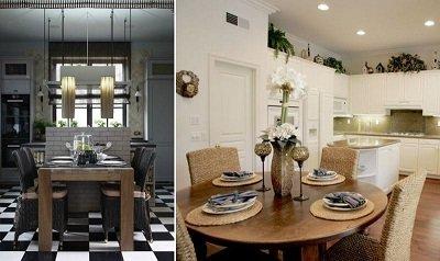 Ротангові меблі для кухні